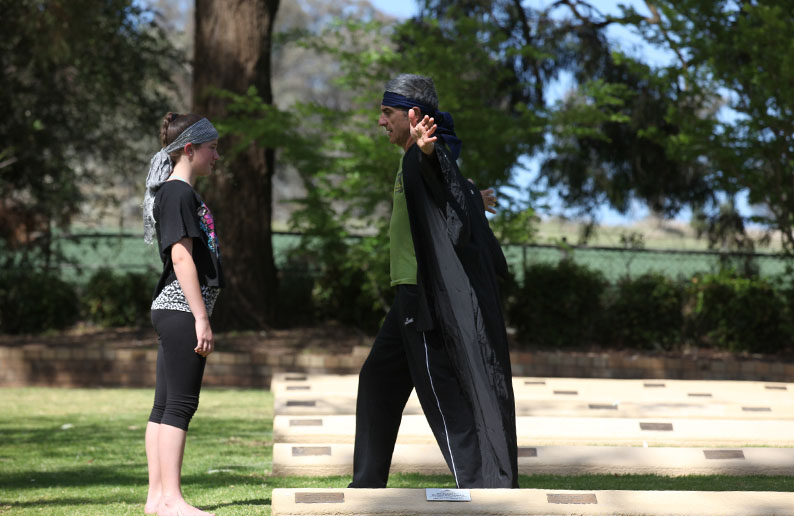 Alan Schacher (right) and Brianna Hindmarch at Japanese War Cemetery